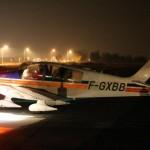 """""""Bravo-Deux fois"""" au départ pour un vol de nuit"""