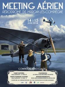 """Affiche """"Compiègne Aéro Classic"""""""